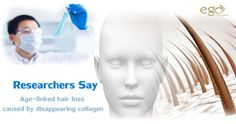 Fact: Researchers say Age-linked ‪#‎hairloss‬ caused by disappearing ‪#‎collagen‬. Via: www.goego.in