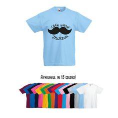 Boys shirt, Little mister shirt, personalized shirt, name shirt, boy birthday shirt, customizable boy shirt, mustache shirt, mustache mister by KMLeonBE on Etsy