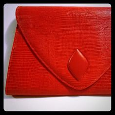Bag Bazaar Lg Red Envelope Clutch Crossbody Purse Bag Bazaar Lg Red Envelope Clutch Crossbody Purse  Sweet Red Clutch or Crossbody Shoulder Purse by Bag Bazaar. Vintage but Never Used and Ready for You to Make Your Statement! Unlisted Bags Clutches & Wristlets