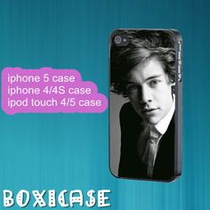 Harry Styles,ONE DIRECTION--iphone 4 case,iphone 5 case,ipod touch 4 case,ipod touch 5 case,in plastic,silicone and black , white. by Boxicase on Etsy, $14.95
