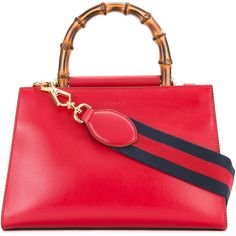 Gucci Nymphea Tote (141,150 INR) ❤ liked on Polyvore featuring bags, handbags, tote bags, leather purses, red leather purse, red leather tote, red purse and leather handbags