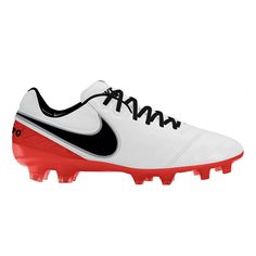 low priced 6c315 5b959 Nike Women s Tiempo Legend VI FG Soccer Cleats (White Crimson Black)