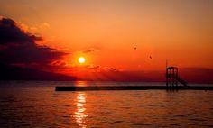 Slnko, Západ Slnka, Červená, Leto