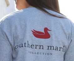 Authentic Tee in Gray by Southern Marsh - Country Club Prep