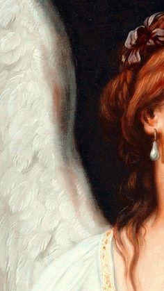 Angel Aesthetic, Aesthetic Vintage, Aesthetic Art, Aesthetic Pictures, Aesthetic Pastel Wallpaper, Aesthetic Backgrounds, Rennaissance Art, Angel Wallpaper, Art Ancien
