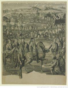 ENTRÉE SOLEMNELLE DE PHILIPPE V. ROY D'ESPAGNE DANS LA VILLE DE NAPLES Le 20 May 1702 : [estampe]