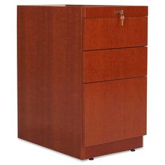 Lorell 87822 Two Box One File Pedestal - Width x Depth x Height - 3 Drawer - Single - Fluted Edge - Mahogany Home Office Filing Cabinet, Home Office Cabinets, Filing Cabinets, Pedestal Desk, Box File, Drawers, Storage, Home Decor, Credenza