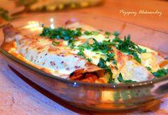 Przepisy Aleksandry: NALEŚNIKI PO BOLOŃSKU Polish Recipes, Polish Food, Casserole, Cravings, Cooking Recipes, Meat, Chicken, Pierogi, Ethnic Recipes