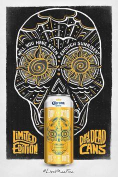 Commemorative cans for Day of the Dead / Latas conmemorativas para el Día de Muertos por Corona: Sunrise #LiveMasFina
