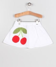 Take a look at this White & Red Cherry Skirt - Infant, toddler & Girls by Puffy Pie on #zulily today!