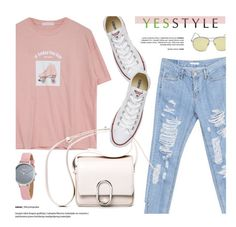 """""""YESSTYLE.com"""" by monmondefou ❤ liked on Polyvore featuring Goroke, 3.1 Phillip Lim, Skagen, Converse, BackToSchool, outfit and yesstyle"""