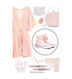 """""""Plain Pink"""" by hmrodeck ❤ liked on Polyvore featuring Converse, La Perla and Nancy Gonzalez"""