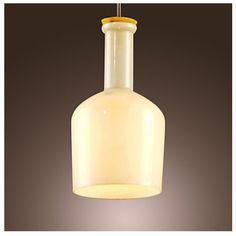 Unitary™ Vintage White Glass Shade Mini Pendant Light Max 60W with 1 light painted Finish: Amazon.co.uk: Lighting