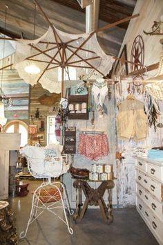 Take a look at the eclectic Junk Gypsy shop, which is laid out by themes, and see some of the Western-chic goods that make it famous.