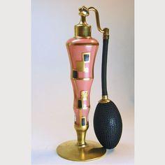 DeVilbiss 1930 Art Deco Coral Perfume Atomizer on Ruby Lane
