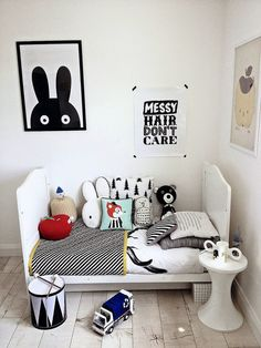 eclectic kids rooms - the boo and the boy. preetttty cool. messy hair don't care. k.