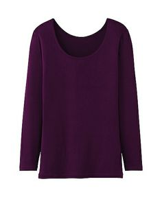 WOMEN HEATTECH SCOOP NECK T-SHIRT (LONG SLEEVE), $14.90 from Uniqlo. (Suggested item to recreate this #outfitidea: http://www.franticbutfabulous.com/2014/02/05/working-mom-outfit-idea-copycat/)