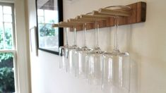 This DIY Wine Glass Rack Saves Space, Is Easy to Build