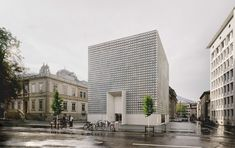 Barozzi Veiga adds gridded concrete extension to Bündner Kunstmuseum