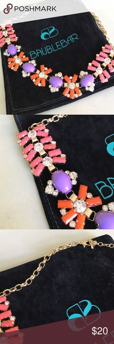 Costume jewelry necklace Baublebar- gold chain, pink, purple, orange beading baublebar Jewelry Necklaces