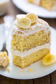 Banana Cake with Cinnamon Cream Cheese Frosting