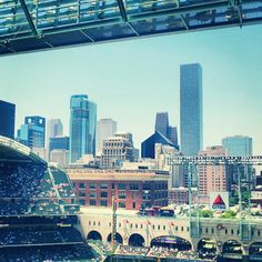 Two great things: Houston skyline and Minute Maid Park. www.billiardfactory.com