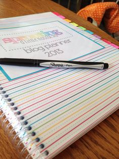 Printed Blog Planner by SproutingNostalgia on Etsy #blogging