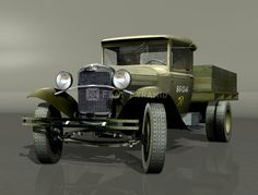 The GAZ-AA Soviet truck from the 1930s from Gorky GAS