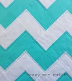 Zig zag quilt with jelly rolls: only rectangles