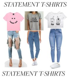 """""""Statement t-shirts"""" by cris05 on Polyvore featuring WithChic, Wrangler and Vans"""