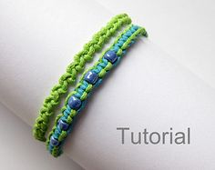 Beginners knotted bracelet tutorials two patterns pdf step by step diy photo jewelry instructions christmas makrame micro tutoriel how to