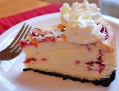 Gâteau au fromage avec chocolat blanc, framboises et truffe... Pur Hmmm! / White Chocolate Raspberry Truffle Cheesecake... Pure Hmmm!