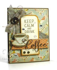 Card by Christyne Kane using Verve's Coffee set and Coffee Word Die.  #vervestamps
