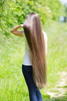 Blod long hair silk
