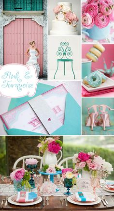 Colorful vintage wedding - Spring is here!  It's time for fun and flirty spring color schemes!