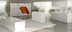 Space saving furniture folded