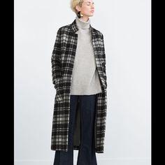 MAKE An OFFER! ZARA Coat NEW!!! Black and white Zara Jackets & Coats