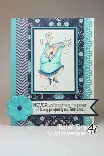 Art Impressions Rubber Stamps: Millie by Karen Day