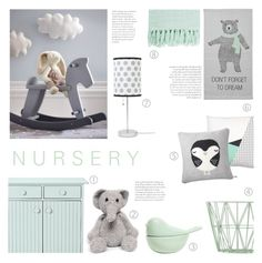 """""""Nursery Decor"""" by c-silla ❤ liked on Polyvore featuring interior, interiors, interior design, home, home decor, interior decorating, Surya, ferm LIVING, Bloomingville and Donna Wilson"""