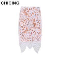 Lace Asymmetric Hems High Waist Hollow Out Pencil Skirt  Only $19.99 => Save up to 60% and Free Shipping => Order Now!  #Skirt outfits #Skirt steak #Skirt pattern #Skirt diy #skater Skirt #midi Skirt #tulle Skirt #maxi Skirt #pencil Skirt