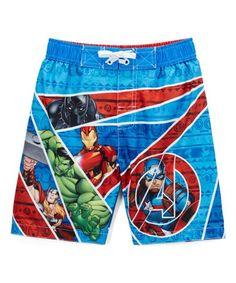 02718f575f Love this Avengers Blue Swim Trunks - Boys on #zulily! #zulilyfinds  #affiliate