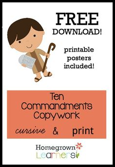 Ten Commandments For Kids  A Mini Coloring Book With Simple
