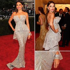 Sofia Vergara at Met Gala 2012  in Marchesa and Harry Winston Jewels