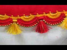 How to tie saree kuchu or tassel with silk thread - YouTube