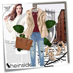 Sheinside 9 by dinna-mehic on Polyvore featuring polyvore fashion style Qupid MICHAEL Michael Kors H&M Post-It Sheinside