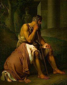 Krafft - Oedipe et Antigone (1809) Musée du Louvre Les carnets d'Eimelle littérature théâtre voyage: Antigone théâtre et peinture 1