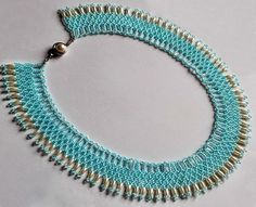 Free pattern for beaded necklace Lipari   U need: seed beads 11/0 rice beads