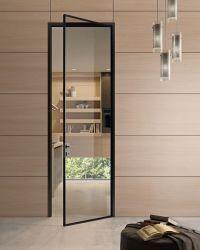 Szklane drzwi w czarnej ramce w stylu loft - EKO-DAR - drzwi włoskie, podłogi…