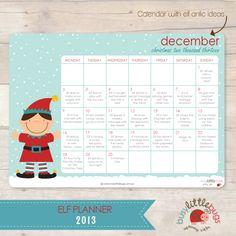 Busy Little Bugs The Elf Planner Calendar with elf antics