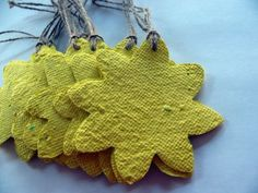 Sunflower Wedding Favors - Yellow Sunflower Tags - Yellow Birthday Party Favors